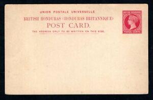 British Honduras - 1891 3c Carmine Prepaid Postcard - Higgins & Gage #5 - Unused