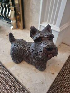 Concrete Scottish Terrier - Brown