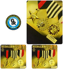 3 UK Fake Army Medallion Military Medals War Medal Award Costume Accessories pcs
