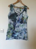 BNWT Wall London Floral Watercolour Thin Cotton Tunic Top Size S