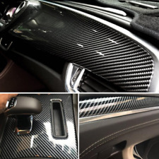 5D Ultra Gloss Glossy Black Carbon Fiber Vinyl Wrap Sticker Decal 12x60""