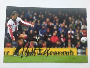Matt le tissier Signed Southampton 6x4 Photo Football Autographs