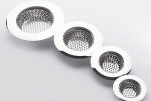 Sink Strainer Stainless Steel Handle Basket waste Drain Filter Kitchen Bathroom