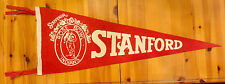 AWESOME! 1941 ROSE BOWL FOOTBALL PENNANT-STANFORD/NEBRASKA-SOUVENIR VARIATION