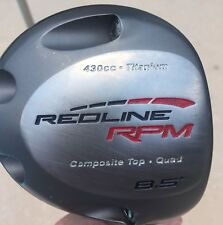 "AdamsGolf RedLine RPM Driver 8.5° RH ALDILA NV-RPM 65 S Titanium 430cc Quad 46"""