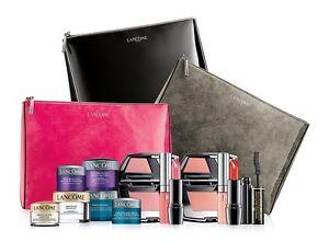 Lancome Day And Eye Cream Lipstick,Gloss,Blush Trio,Mascara and More Gift Set