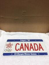 1988 Calgary Olympic Winter Games License Plate