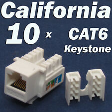 10 X Pcs lot Keystone Jack CAT6 Network Ethernet 110 Style Punch Down 8P8C RJ45