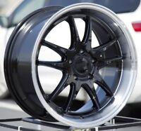 18X8.5 +38 F1R F102 5X100 BLACK WHEELS FITS SCION FR-S GT86 JETTA GOLF WRX BRZ