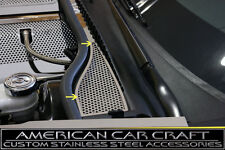 2008-2012 Corvette C6 Polished & Perforated Wiper Cowl Covers - 2 Piece Set