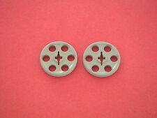 Lego Technic - 2 poulies gris clair / Light Gray pulleys REF 4185