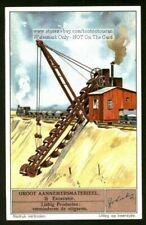 Excavator Heavy Construction Equipment 1930s Trade Ad Card