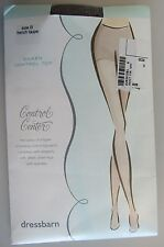 NIB! DRESSBARN CONTROL CENTER CONTROL TOP PANTYHOSE NYLONS SIZE B FRENCH TAUPE