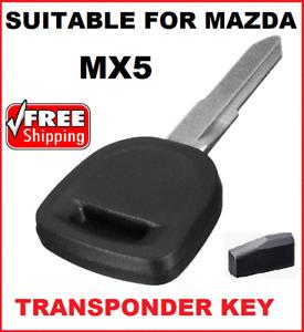 1 x Transponder car key blank suitable for Mazda MX5 2005 2006 2007 2008 2009