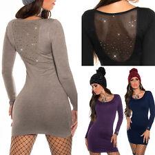 Maglione Donna Lungo MaliziOSA Mini Abito Maglia Maxipull Pullover Moda Fashion