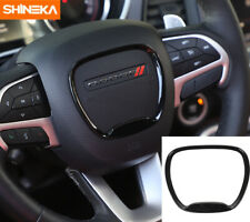 Steering Wheel Center Trim Ring Cover for Dodge Charger/Challenger 2015-19 Black (Fits: Dodge)