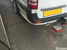 To Fit 2014 - 2017 Volkswagen Crafter LWB Stainless Steel Rear Corner Nudge Bars