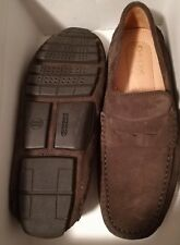 Geox U Melbourne A Mens US 9 Driving Moc Shoes Moccasins - Chocolate Brown Suede