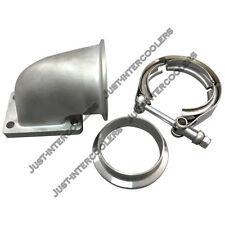 """CX 90 Deg Elbow Adapter Flange + 2.5"""" Vband Flange & Clamp Kit For T2 T25 T28"""