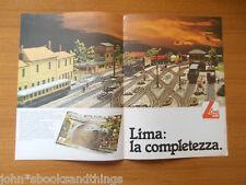 LIMA MODELLISMO FERROVIARIO MODELLO PLASTICO STAZIONE BINARI TRENI PUBBLICITA