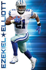 Ezekiel Elliott TRAILBLAZER Dallas Cowboys Official NFL Football WALL POSTER