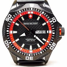 SWISS MILITARY TANK NERO DIVER 200M MEN'S WATCH #2741 NEW IN BOX FREE SHIPPING