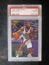 1996 Fleer Sprite #20 Ray Allen Rookie Milwaukee Bucks PSA 9 MINT