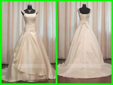 Satin Plus Size Cap Sleeve Wedding Dresses