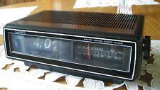 vintage conic flip clock radio u-125