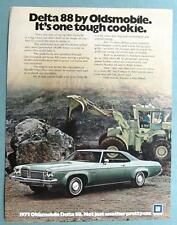 10 X 13 Original 1972 Oldsmobile Delta 88 Ad ITS ONE TOUGH COOKIE