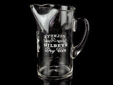c1920 Gilbeys Dry Gin & Spey Royal Hand Blown Jug