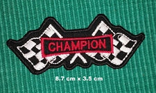 Champion Spark Plugs Logo F1 Racing Biker Iron-on Embroidered Patch Jacket Badge