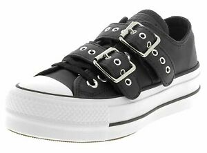 CONVERSE CHUCK TAYLOR ALL STAR LIFT BUCKLE OX Low Top Sneakers BLACK 562835C