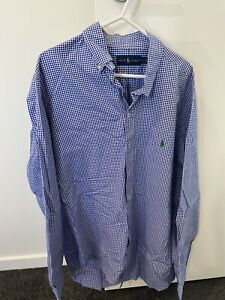 Ralph Lauren Polo Shirt Long Sleeve Size L