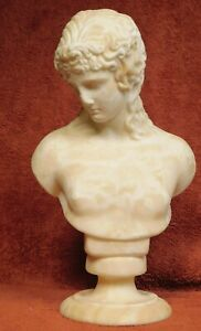 Antique Genuine Marble Bust Eros Centocelle Young Nude Man Grand Tour Praxitles