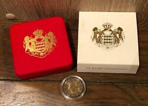 Coffret 2 euro Monaco 2007 Princesse Grace Kelly - Neuve, écrin & Boite