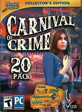 BLUE TEAR Hidden Object Collector's Ed CARNIVAL OF CRIME 20 GAME PACK PC NEW