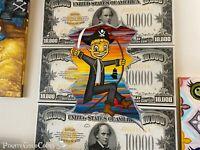 "Treasure Paintings JR Bissell ""Loot Boy $10k"" Pirate Artist Gimme the Loot Boyz"