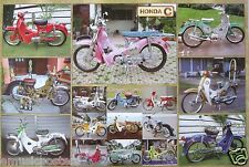 "HONDA MOTORCYCLES POSTER ""16 C MODELS"" - JAPANESE MOTORBIKES, CYCLES, SCOOTERS"