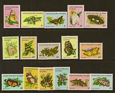 COCOS/KEELING IS :1982 Butterflies/Moths definitive set SG 84-99 unmounted mint