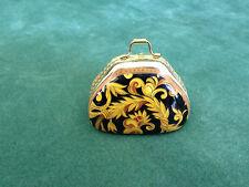 "Crown Porcelain Elegance Pattern 2.25"" (60mm) Hand Bag Pill Box"