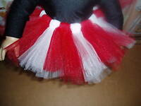 "Red White Ballet Tutu Dance 18"" Doll Clothes fits American Girl"