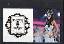 Gibraltar 2010 MNH Miss World 2009 Kaiane Aldorino 1v Sheet