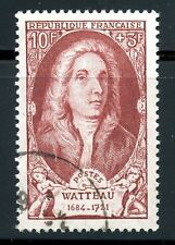 STAMP / TIMBRE FRANCE OBLITERE N° 855 CELEBRITE / ANTOINE WATTEAU