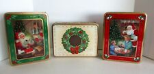 3 Oreo Cookie Tin Christmas Best Ever Holiday Wishes Santa Comes 1990 1992 1993