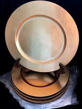 NEW Nancy Calhoun Designer Lacquerware Charger Service Plate Gold Leaf 13