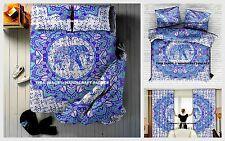 Indian Elephant Mandala Duvet Cover Set 5 PC With Bedspread + Cusrtins + Pillows