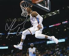 RUSSELL WESTBROOK OKLAHOMA THUNDER SIGNED AUTOGRAPH 8X10 PHOTO
