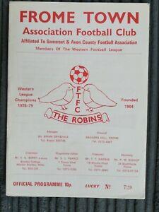 79/0 Frome Town vs Welton Rovers (West League Premier Division)