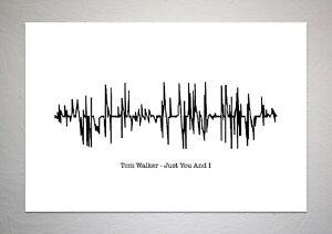 Tom Walker - Just You And I - Sound Wave Print Poster